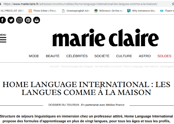 HLI featured on Marie Claire